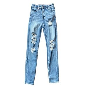 American Eagle Outfitters Highest Rise Jeggings 0